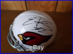 Edgerrin James Arizona Cardinals NFL Autographed Mini Helmet Miami Hurricanes