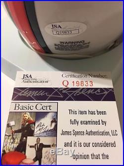Edgerrin James Miami Hurricanes Jsa Signed Mini Helmet Colts Hof Coa
