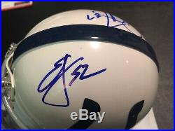 EDGERRIN JAMES REGGIE WAYNE Signed Auto Colts Mini Helmet Miami Hurricanes PSA