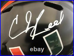 Ed Reed Autograph Signed Miami Night FS Helmet BAS