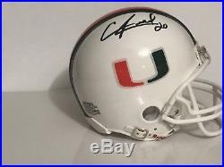 Ed Reed Hand signed Miami Hurricanes Mini Helmet NCAA Ravens COA