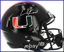 Ed Reed Miami Hurricanes Autographed Riddell Miami Nights Speed Replica Helmet