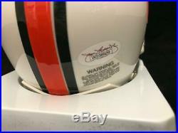 Ed Reed Miami Hurricanes Signed Autographed Mini Helmet Jsa Coa