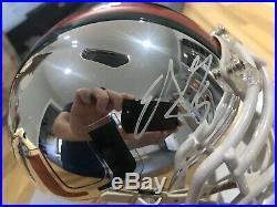 Edgerrin James Chrome Mini Helmet Rare Miami Hurricanes Radtke COA