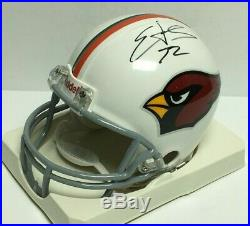Edgerrin James Signed Arizona Cardinals/Miami Hurricanes Mini-Helmet PSA L48930