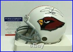 Edgerrin James Signed Arizona Cardinals/Miami Hurricanes Mini-Helmet PSA L48939