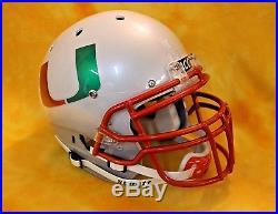 FIRE and SMOKE Miami Hurricanes Pro Combat football helmet Schutt XP med