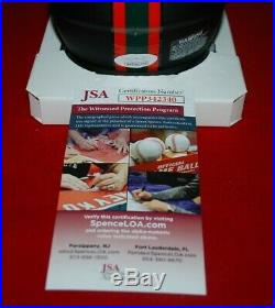 FRANK GORE miami hurricanes signed matte black mini helmet JSA Witnessed COA 1