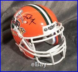 FRANK GORE signed MIAMI HURRICANES mini helmet BAS W BECKETT coa 49ers dolphins