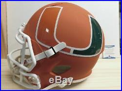 Frank Gore Autographed Miami Hurricanes Full-Size Football Helmet BAS COA