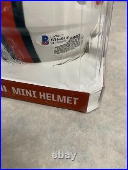 Frank Gore Autographed Miami Hurricanes Mini Helmet- Becket Witnessed Auto