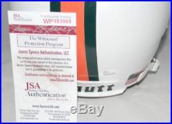 Frank Gore Autographed Signed Miami Hurricanes Full Size Helmet Jsa