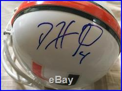 Frank Gore & Devin Hester signed auto Miami Hurricanes mini helmet Schwartz COA