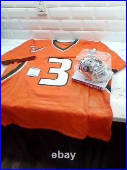 Frank Gore Lot of 2 Autographs! Signed Jersey & Riddel Speed Helmet! Beckett COA