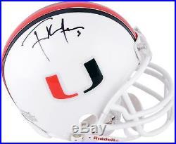 Frank Gore Miami Hurricanes Autographed Riddell Mini Helmet Fanatics