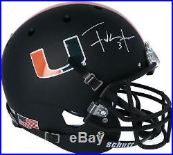 Frank Gore Miami Hurricanes Autographed Schutt Black Matte Replica Helmet