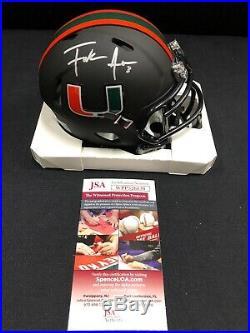 Frank Gore Miami Hurricanes Autographed/signed Black Mini Helmet Jsa Witness Coa