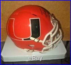 Frank Gore Miami Hurricanes Signed Amp Alternative Mini Helmet Jsa Witnessed