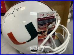 Frank Gore Miami Hurricanes Signed Full Size Replica Helmet Jsa Wpp526060