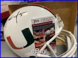 Frank Gore Miami Hurricanes Signed Full Size Replica Helmet Jsa Wpp526076