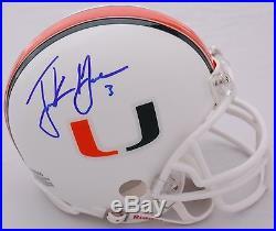 Frank Gore Miami Hurricanes signed Mini Helmet with COA