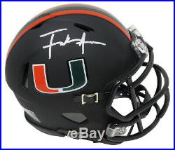 Frank Gore Signed Miami Hurricanes Black Riddell Speed Mini Helmet SCHWARTZ