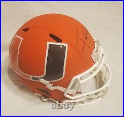 Frank Gore Signed Miami Hurricanes Full Size Speed Amp Helmet Rep Beckett COA