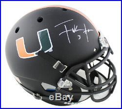 Frank Gore Signed Miami Hurricanes Schutt Authentic Black NCAA Helmet