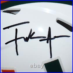 Frank Gore Signed Miami Hurricanes Speed Mini Replica White Football Helmet JSA