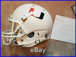 Frank Gore autographed Miami Hurricanes schutt Helmet JSA COA