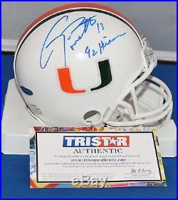 Gino Torretta Autographed Mini Helmet Miami Hurricanes 92 Heisman Tristar