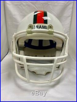 Game Worn Schutt Pro Air II Miami Hurricanes Football Helmet