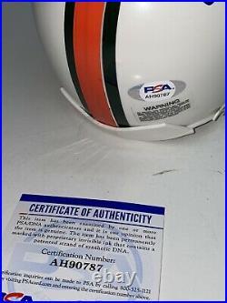 Gino Torretta SIGNED U of Miami Hurricanes Mini Helmet Heisman PSA/DNA Autograph