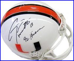 Gino Torretta signed Miami Hurricanes Mini Helmet 92 Heisman
