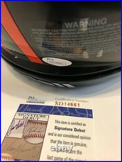 Greg Rousseau Signed Miami Hurricanes Full Size Authentic Helmet Jsa Coa