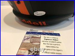 Greg Rousseau Signed Miami Hurricanes Full Size Eclipse Replica Helmet Jsa Coa