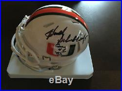Howard Schnellenberger Signed Miami Hurricanes'83 Champs Mini Helmet