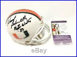 Howard Schnellenberger Signed Miami Hurricanes Mini Helmet 83 Champs JSA Coa