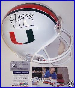 Jim Kelly Hand Signed Miami Hurricanes Full Size Helmet Psa/dna Coa