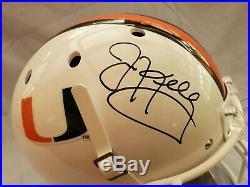 JIM KELLY Miami Hurricanes Schutt Helmet BILLS