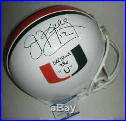 JIM KELLY Signed Full-Size MIAMI HURRICANES ProLine Helmet with Beckett COA & Insc