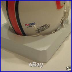 JIM KELLY Signed Miami HURRICANES Mini-helmet with PSA COA & Inscription