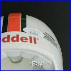 JIM KELLY VINNY TESTAVERDE BERNIE KOSAR Signed Autographed Miami Mini Helmet JSA