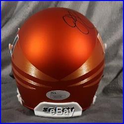 JIM KELLY signed MIAMI HURRICANES matte mini helmet JSA coa buffalo bills canes