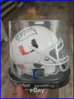 JIM KELLY signed/autographed MIAMI HURRICANES Riddell Mini Helmet BILLS JSA
