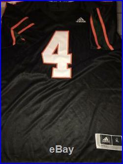 Jaquan Johnson Miami Hurricanes Nights Black Rare Jsa Signed #4 Jersey Coa