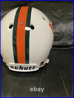 Jeremy Shockey Miami Hurricanes Autographed Full Size Helmet