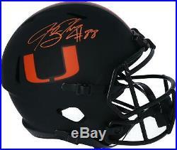 Jeremy Shockey Miami Hurricanes Autographed Riddell Eclipse Speed Replica Helmet