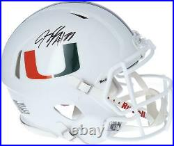 Jeremy Shockey Miami Hurricanes Autographed Riddell Speed Authentic Helmet