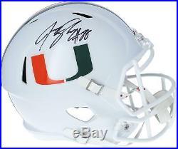 Jeremy Shockey Miami Hurricanes Autographed Riddell Speed Replica Helmet